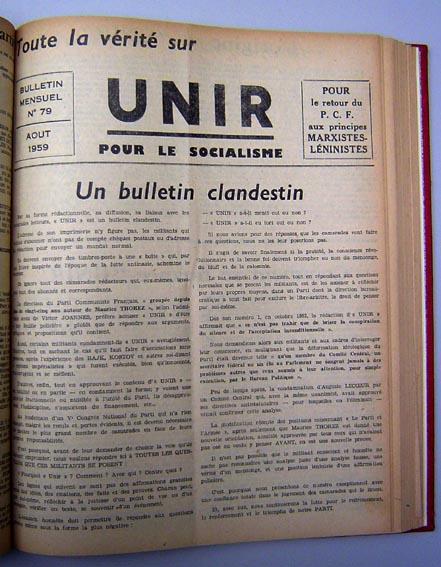 UNIR N°79 aou 1959 couv web