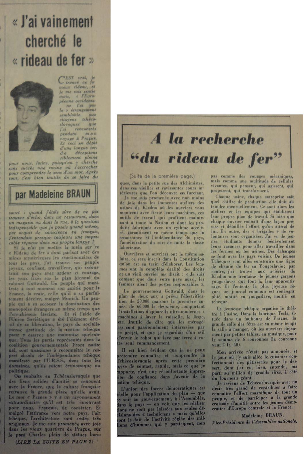 P50 N°41 10 mai 1947 rideau de fer