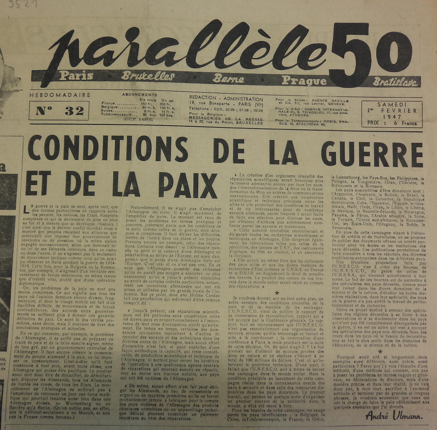 P50 N°32 1er février 1947